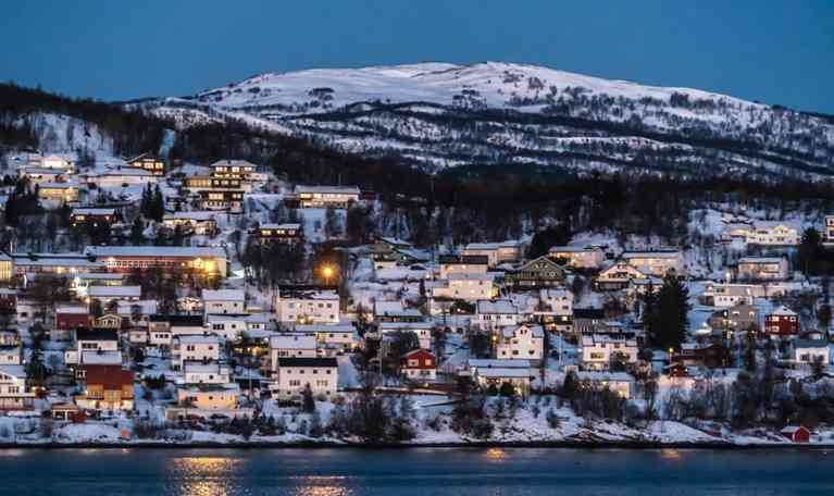 winter town in Norway